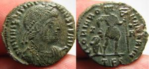 Fibule cruciforme sur un buste de Valentinien Ier 15866
