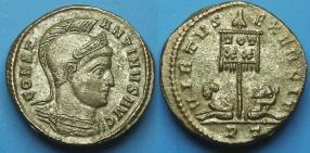 Ticinum: Série VIRTVS-EXERCIT et les bustes casqués de Constantin Ier   20644