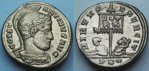 Ticinum: Série VIRTVS-EXERCIT et les bustes casqués de Constantin Ier   37872