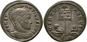 Ticinum: Série VIRTVS-EXERCIT et les bustes casqués de Constantin Ier   55171
