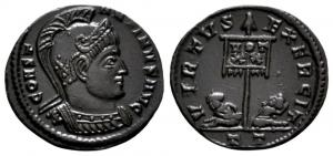 Ticinum: Série VIRTVS-EXERCIT et les bustes casqués de Constantin Ier   61478