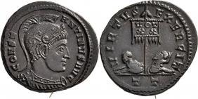 Ticinum: Série VIRTVS-EXERCIT et les bustes casqués de Constantin Ier   65435