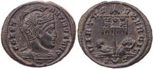 Ticinum: Série VIRTVS-EXERCIT et les bustes casqués de Constantin Ier   78104