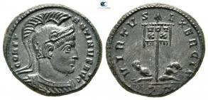 Ticinum: Série VIRTVS-EXERCIT et les bustes casqués de Constantin Ier   79906