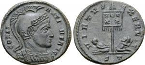 Ticinum: Série VIRTVS-EXERCIT et les bustes casqués de Constantin Ier   81134