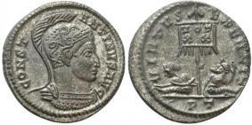 Ticinum: Série VIRTVS-EXERCIT et les bustes casqués de Constantin Ier   88946