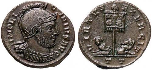 Ticinum: Série VIRTVS-EXERCIT et les bustes casqués de Constantin Ier   87781