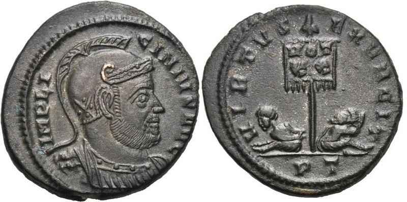 Ticinum: Série VIRTVS-EXERCIT et les bustes casqués de Constantin Ier   25197