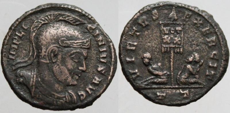 Ticinum: Série VIRTVS-EXERCIT et les bustes casqués de Constantin Ier   33987