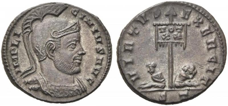 Ticinum: Série VIRTVS-EXERCIT et les bustes casqués de Constantin Ier   73378
