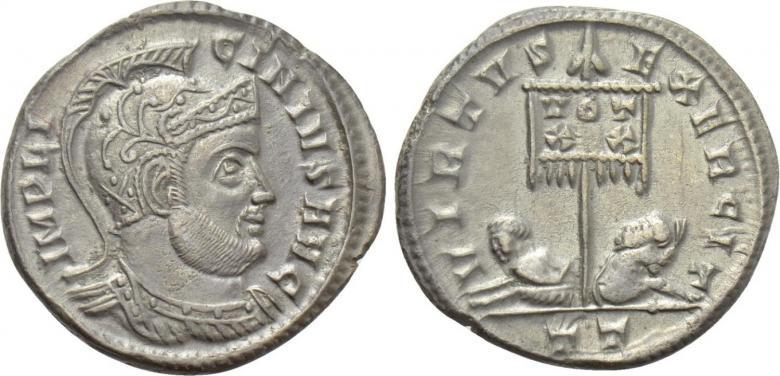 Ticinum: Série VIRTVS-EXERCIT et les bustes casqués de Constantin Ier   74334